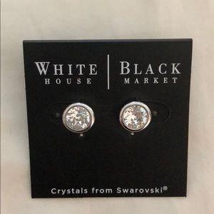 WhiteHouseBlackMarket stud earring with Swarovski